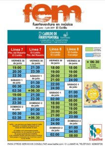 Extra Buses for the Music Festival in El Cotillo