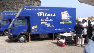Film crew invaded El Cotillo