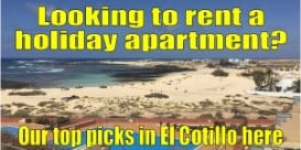 Holiday apartments to rent in El Cotillo