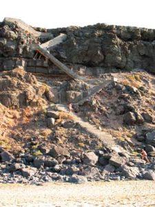 Steps beach El Cotillo
