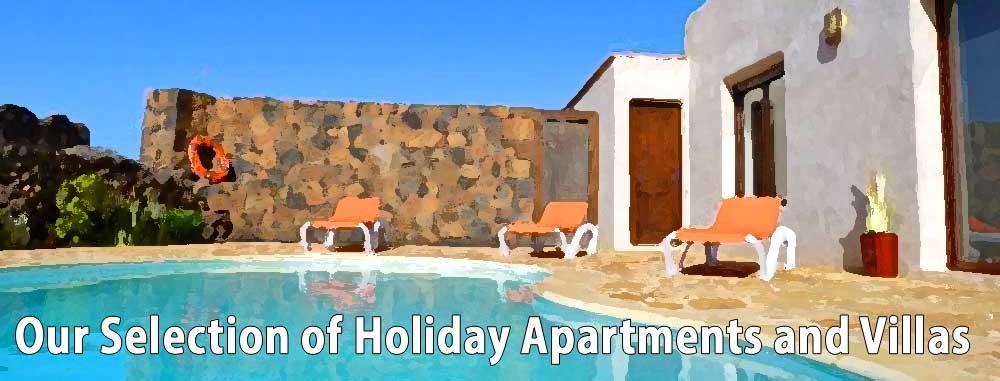 Holiday apartments in El Cotillo