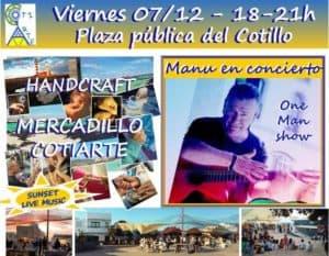 El Cotillo Craft Market 7th December - with live music