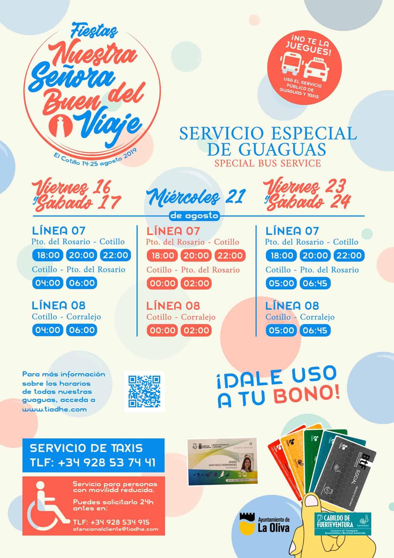 El Cotillo Fiesta Extra Bus Timetable